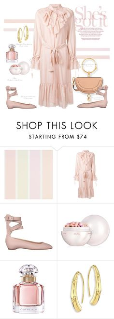 """""""Faded pastels"""" by naki14 ❤ liked on Polyvore featuring FLOW the Label, Valentino, Guerlain, John Hardy, pastels, palerose, Spring2017 and trend2017"""