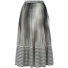 Marco De Vincenzo pleated stripes skirt (6416350 PYG) ❤ liked on Polyvore featuring skirts, black, pleated skirt, knee length pleated skirt, striped pleated skirt, striped skirt and stripe skirts