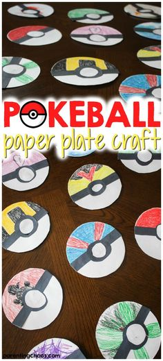 This simple Poké Ball Paper Plate Craft is a fun activity to get kids creatively working on their fine motor skills while tapping into that love of Pokémon. This simple Poké Ball Paper Pokemon Craft, Pokemon Party, Pokemon Birthday, Pokemon Go, Arts And Crafts For Adults, Easy Arts And Crafts, Fun Crafts For Kids, Arts And Crafts Projects, Craft Kids