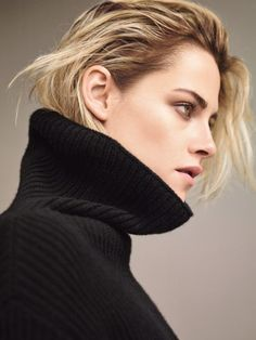 Kristen Stewart gets her closeup in Valentino turtleneck sweater