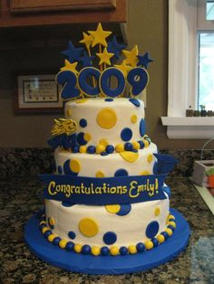 Way more fun than a sheet cake - Graduation Cake