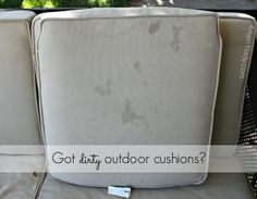 Ten June: How To Clean Outdoor Patio Cushions   For The Home   Pinterest   Outdoor  Patio Cushions, Patio Cushions And Patios