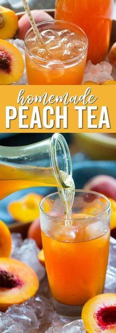 Here is a delicious Homemade Tea Recipe! This Copycat Sonic Easy Peach Tea Recip… Here is a delicious Homemade Tea Recipe! This Copycat Sonic Easy Peach Tea Recipe is perfect for Holidays, Mother's Day of July, or Summertime! Blueberry Tea, Raspberry Tea, Raspberry Cheesecake, Cheesecake Desserts, Baking Desserts, Party Drinks, Fun Drinks, Healthy Drinks, Beverages