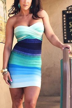 Our blue ombre bandage dress is ultra dreamy for the summer season! (scheduled via http://www.tailwindapp.com?utm_source=pinterest&utm_medium=twpin&utm_content=post58668338&utm_campaign=scheduler_attribution)