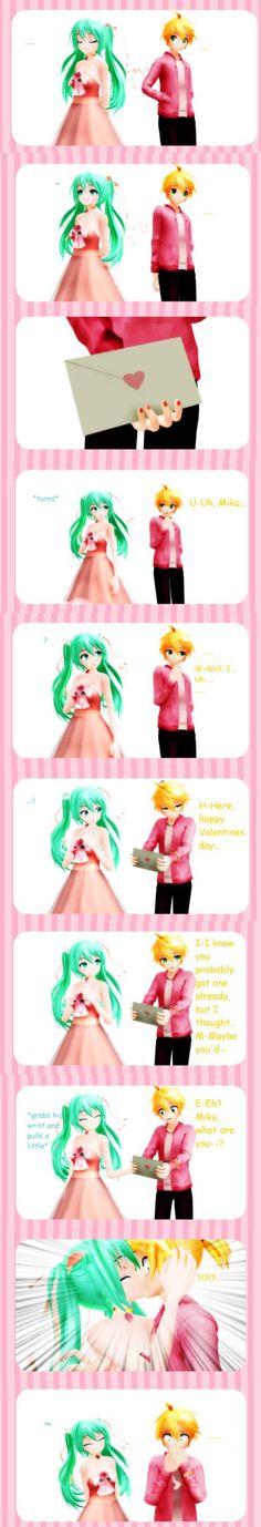 ( Oh my god awwwwwwwwwwww O///////////////////O ) Vocaloid Lenx Miku Happy Valentines