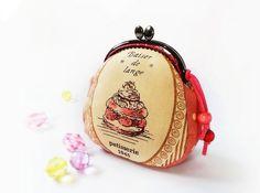 Coin purse / Metal frame purse / Linen purse / 85 cm by DooDesign, $18.90