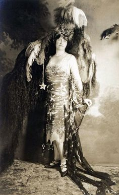 Marjorie Merriweather Post dressed as Starry Night for a costume ball (1926; costume is at Hillwood Museum)