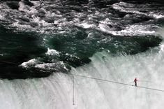 Image result for niagara falls tightrope