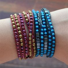 A step by step tutorial teaching you how to make your own beaded wrap bracelet!