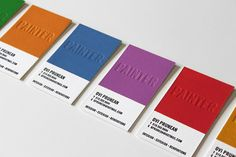 colour swatch business cards