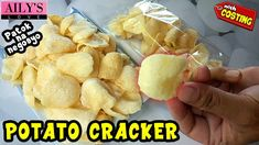 BAGONG PATOK NA NEGOSYO / POTATO CRACKERS / FILIPINO STYLE POTATO CHIPS Food Business Ideas, Baking And Pastry, Easy Food To Make, Cooking Videos, Potato Chips, Filipino, I Foods, Crackers, Potatoes