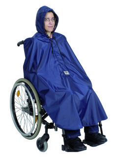 Mobility Poncho (No Sleeves & Unlined)  Quick and easy to put on and fully waterproof for rain protection. Ideal for use on a wheelchair or scooter.