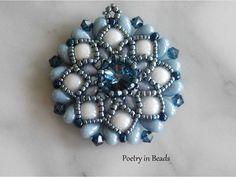 Zoliduo and diamonduo pendant tutorial by Poetry in Beads