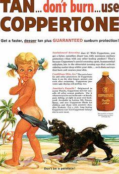 Coppertone before sunscreen