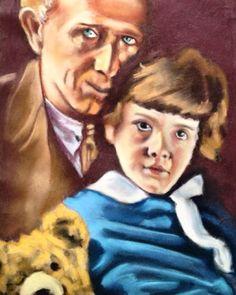 A.A.Milne happy birthday #winniethepooh #aamilne #birthday #author #childrensbooks #portrait #pastel #painting #pastelpainting #art #austinartist @winkrestaurant by parkalaeus