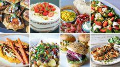 Foto: NRK Quesadilla, Pavlova, Bruschetta, Pasta Salad, Camembert Cheese, Food To Make, Buffet, Ethnic Recipes, Celebration