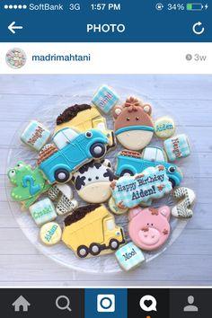 Little blue truck cookies