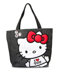 Loving this 'I Love You' Hello Kitty Tote on #zulily! #zulilyfinds Got so many friggin compliments on this cutie!