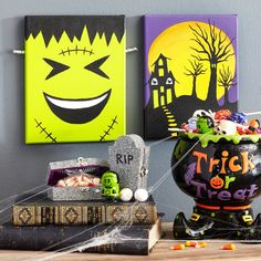 Deck the halls for Halloween with DIY Kids' Scary Halloween Art