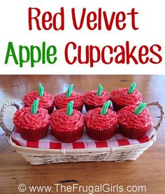 How to Make Apple Frosted Cupcakes! ~ from TheFrugalGirls.com ~ they make the tastiest fun Fall treat! #cupcake