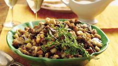 Fresh mushrooms add rich flavor to savory seasoned stuffing.