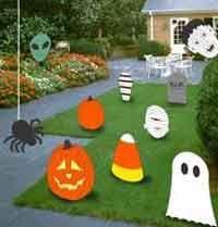 Halloween Wood Lawn Figures