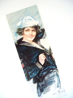Vintage Dover bookmark  Join the Navy poster by LizKnijnenburg, €3.00