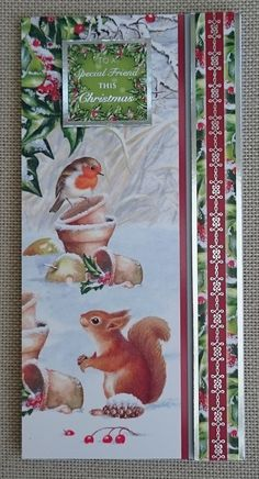 Handmade DL Christmas Card by BavsCrafts on Etsy