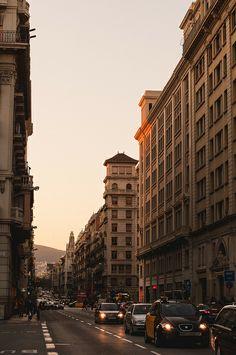 Barcelona al atardecer | Via Laietana