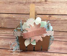 Easter Basket   Stampin' Up!   Flower Patch #literallymyjoy #easter #easterbasket #partyfavor #treat #2016OccasionsCatalog
