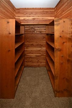 Cedar lined closet next to the master suite entrance perfect for storing  your winter attire!