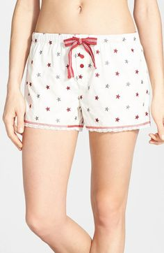 PJ Salvage 'Liberty Rings' Embroidered Shorts available at #Nordstrom