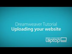 Uploading a website to a web host - Dreamweaver CC Tutorial Dreamweaver Tutorial, Dreamweaver Cc, Web Design, Website, Youtube, Youtubers, Youtube Movies, Site Design