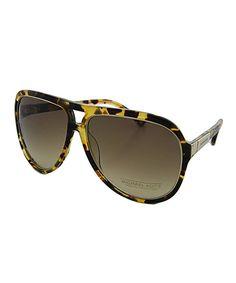 40af416a55e Michael Kors Brown   Olive Tortoise Cutout Sunglasses