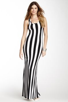 Sleeveless Stripe Maxi Dress by Go Couture on @HauteLook