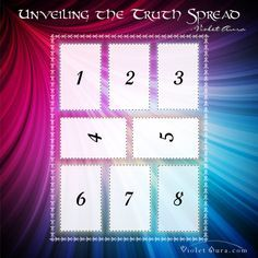 The Unveiling the Truth Tarot Spread is the perfect tarot or oracle card layout used to reveal what is hidden in times of confusion. Click image to get the instructions. / Photo © www.VioletAura.com