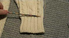 Как разрезать, обрезать, укоротить изделие при вязании спицами. Маленькие хитрости:) Вязание спицами - YouTube