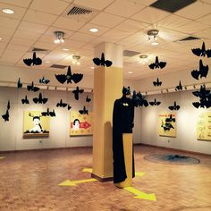 misunderstood bat installation at Palm Beach State College #batman #installation art # ecoart