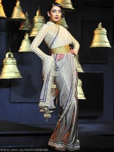 Vikram Phadnis sari for Blenders Pride Fashion Tour 2013.