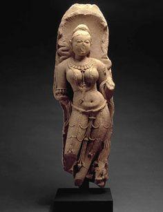 Indian Nagini, 9th century. Sandstone