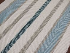 Table Runner Handwoven Cotton Ivory Beige by aclhandweaver on Etsy, $95.00