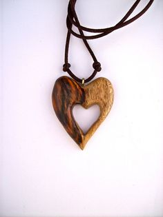 #Wood #Carved Pendant #Heart #Pendant #Wood Pendant by GatewayAlpha, $19.95