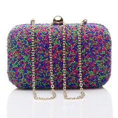 #KUNST Multicolor beaded #clutch. #Bags that won't let you go unnoticed. #bollywoodandfashion