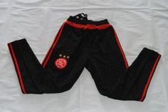 5c7b4114b522 Ajax 16-17 Season Black Red Soccer Pants  I586  Soccer Pants
