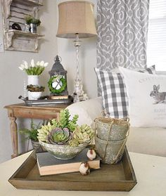 35 the pain of spring decorating ideas page 19 Farmhouse Living Room Furniture, Home Decor Furniture, Living Room Decor, Country Farmhouse Decor, Rustic Decor, Summer Deco, Vintage Vignettes, Transitional Living Rooms, Entertainment Center Decor
