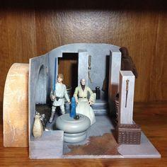 Star Wars Custom Diorama Obi-Wan Kenobi's Hut Home House Tatooine Figure Display