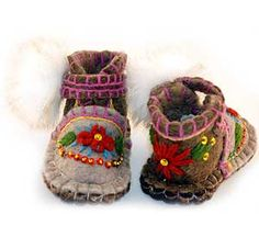 Felt embroidery Boots...too freaking cute!!