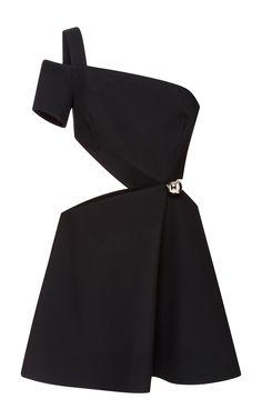 Bonded Crepe Cut-Out One Shoulder Dress - MUGLER Resort 2016 - Preorder now on Moda Operandi