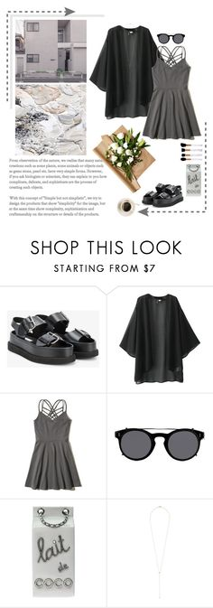 """""""goth summer"""" by emyemoemu ❤ liked on Polyvore featuring STELLA McCARTNEY, Hollister Co., Valentino, Chanel and Ariel Gordon"""