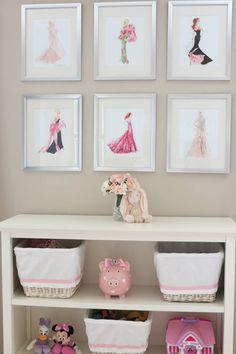 Elegant Barbie Fashion wall decor for girl's room